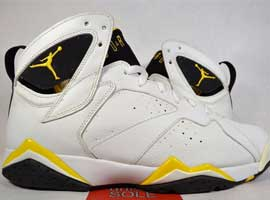 air jordan 7 retro womens white varsity maize black