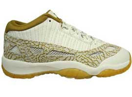 air jordan 11 retro youth IE low white metallic gold