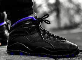 air jordan 10 og sacramento kings black dark concord metallic silver