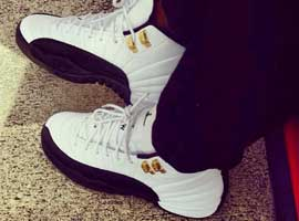 air jordan 12 og taxis white black taxi
