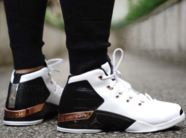 air jordan 17 og white black metallic copper sport royal