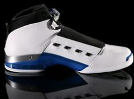 air jordan 17 white college blue black
