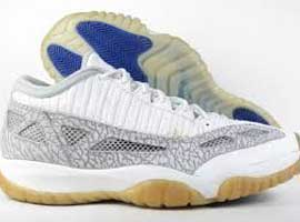 air jordan 11 white light grey cobalt IE low