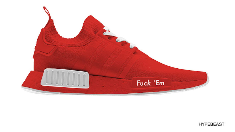 adidas nmd custom all red
