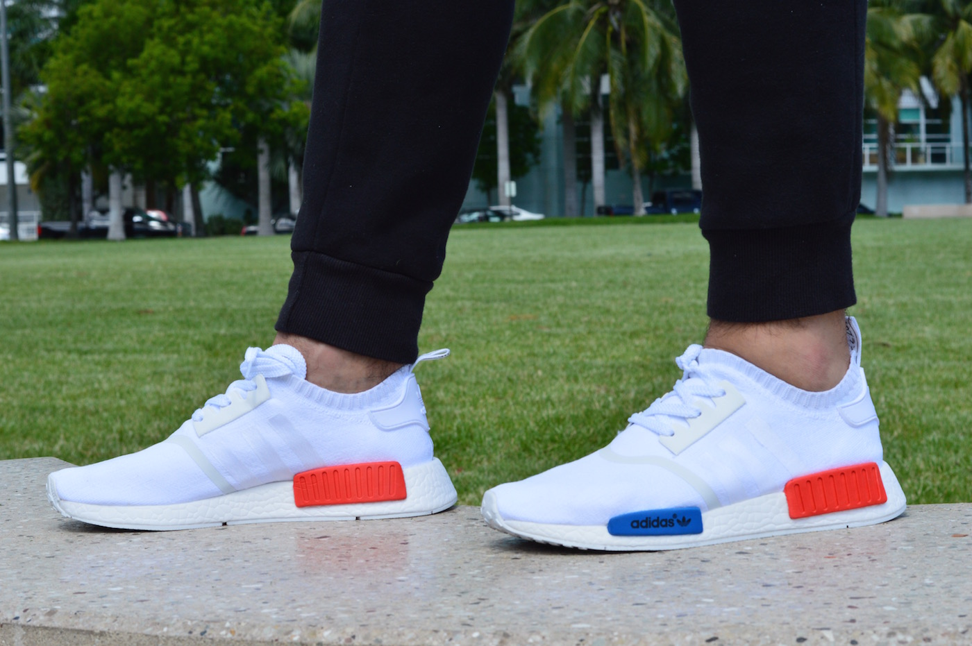 Adidas Nmd All White On Feet