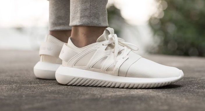 Adidas Tubular On Feet White
