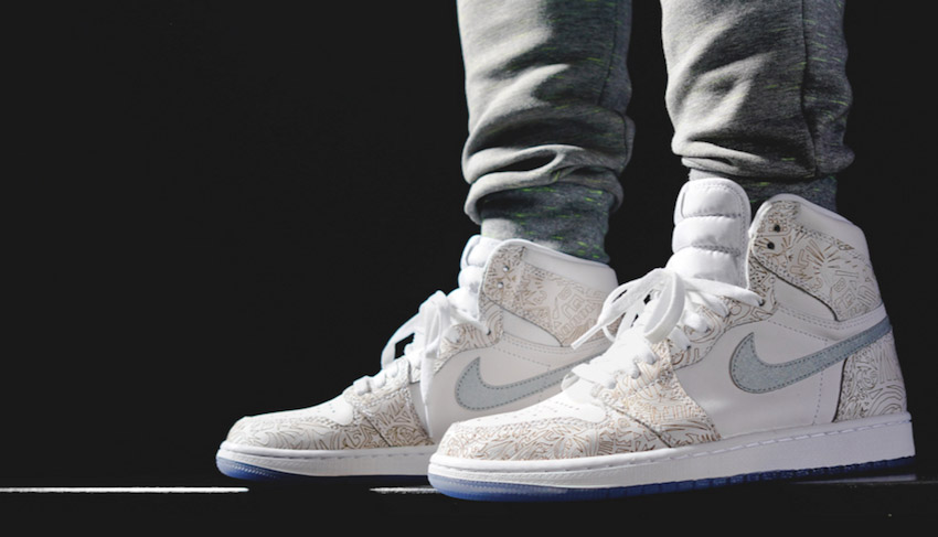 Air Jordan 1 Laser On Feet