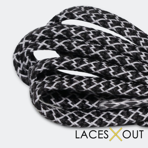 Black 3M Flat Shoelaces Quality