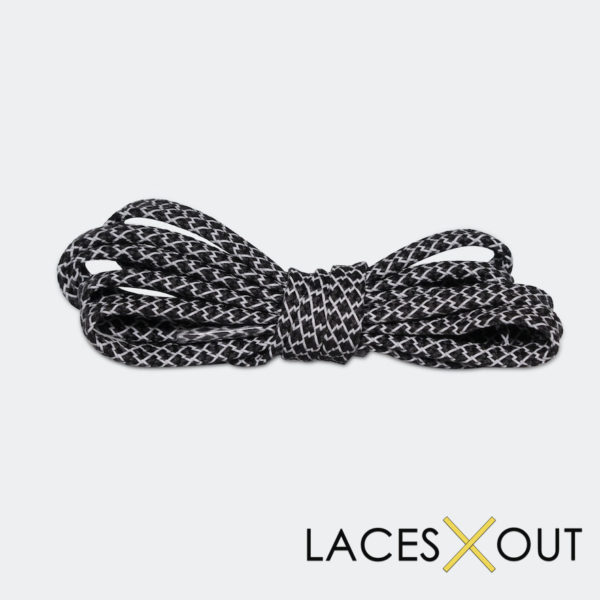 Black 3M Flat Shoelaces Front