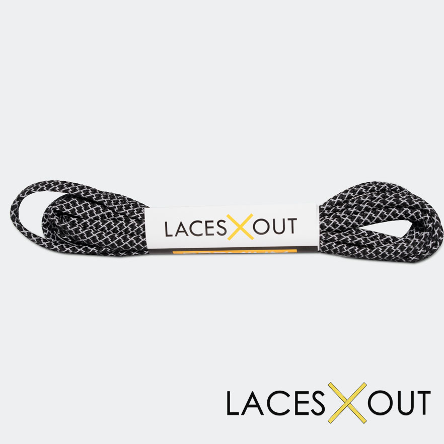 Black 3M Flat Shoelaces Shop