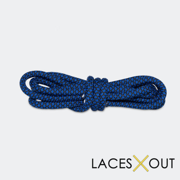 Buy Black Blue Rope Shoelaces