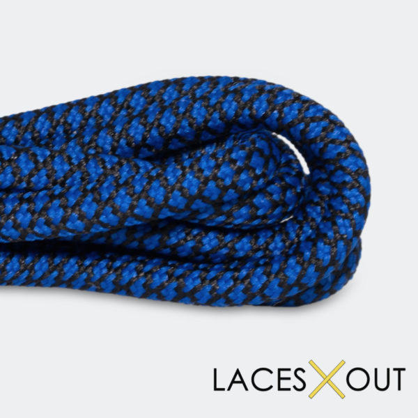 Black Blue Rope Shoelaces Close