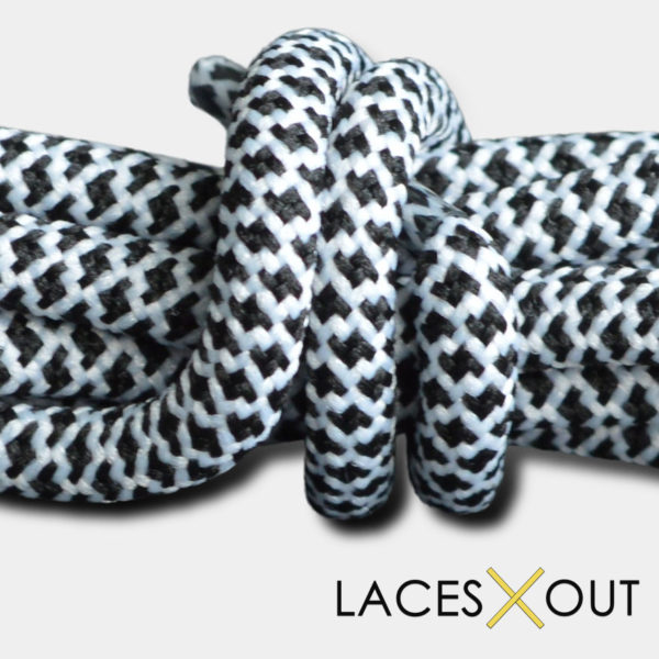 Black / White Rope Shoelaces Quality