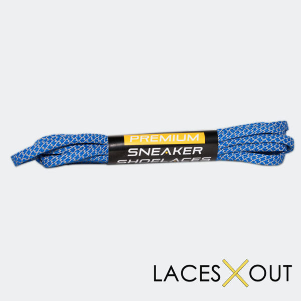 "Blue 3M Shoelaces ""Flat"" Low Cost"