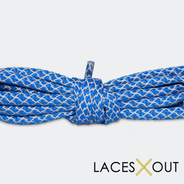 Blue 3M Shoelaces Middle