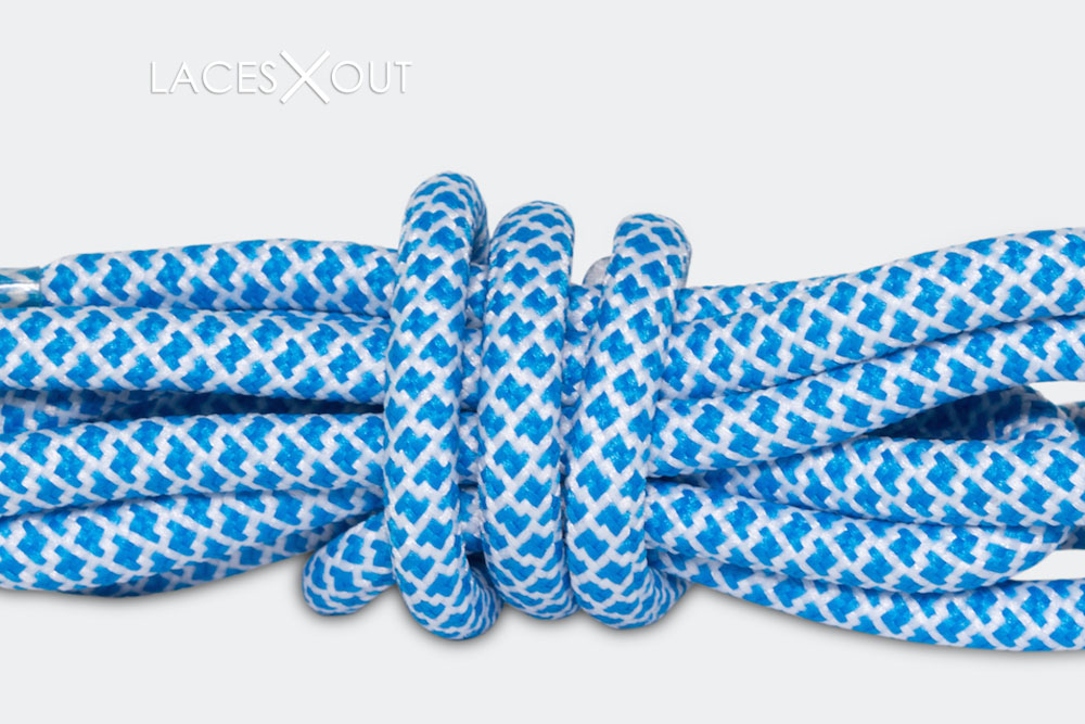 Blue Rope Shoelaces
