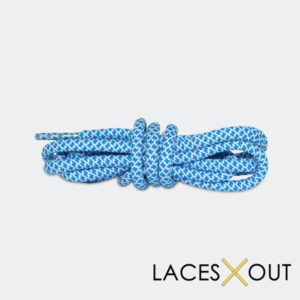 Blue x White Rope Shoelaces Quality