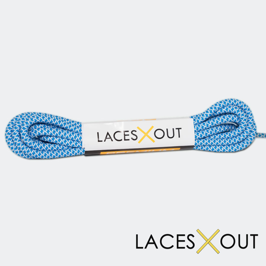 Blue x White Rope Shoelaces