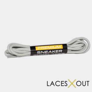 Light Grey Rope Sneaker Shoelaces Product View