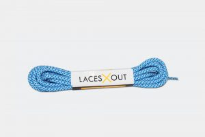 Blue x White Rope Shoelaces Product