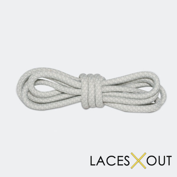 Light Grey Rope Sneaker Shoelaces Top