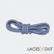 Blue and Tan Rope Shoelaces Quality