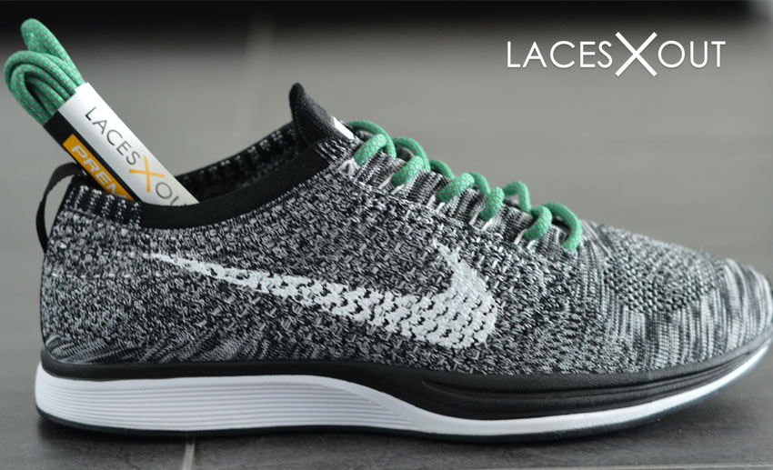 Flyknit Racer Green Laces
