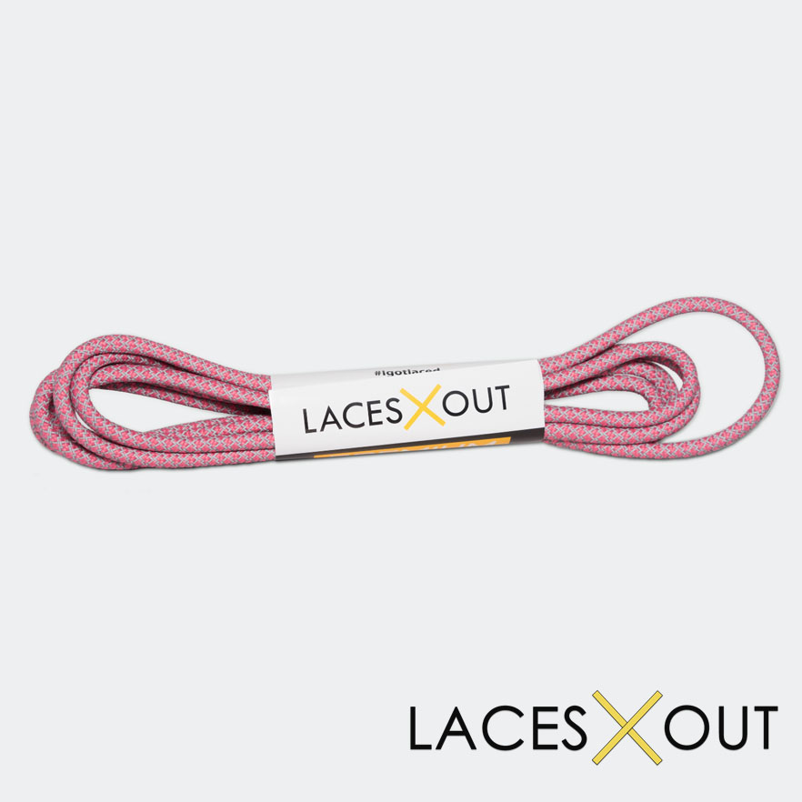 USA Pink 3M Shoelaces