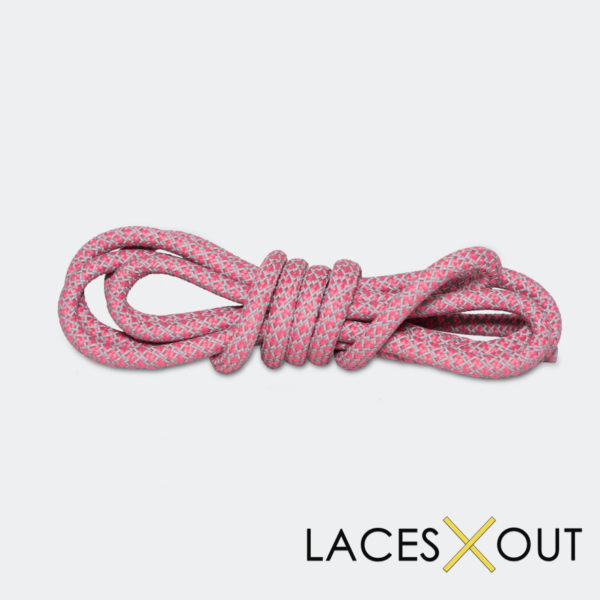 Pink 3M Reflective Shoelaces