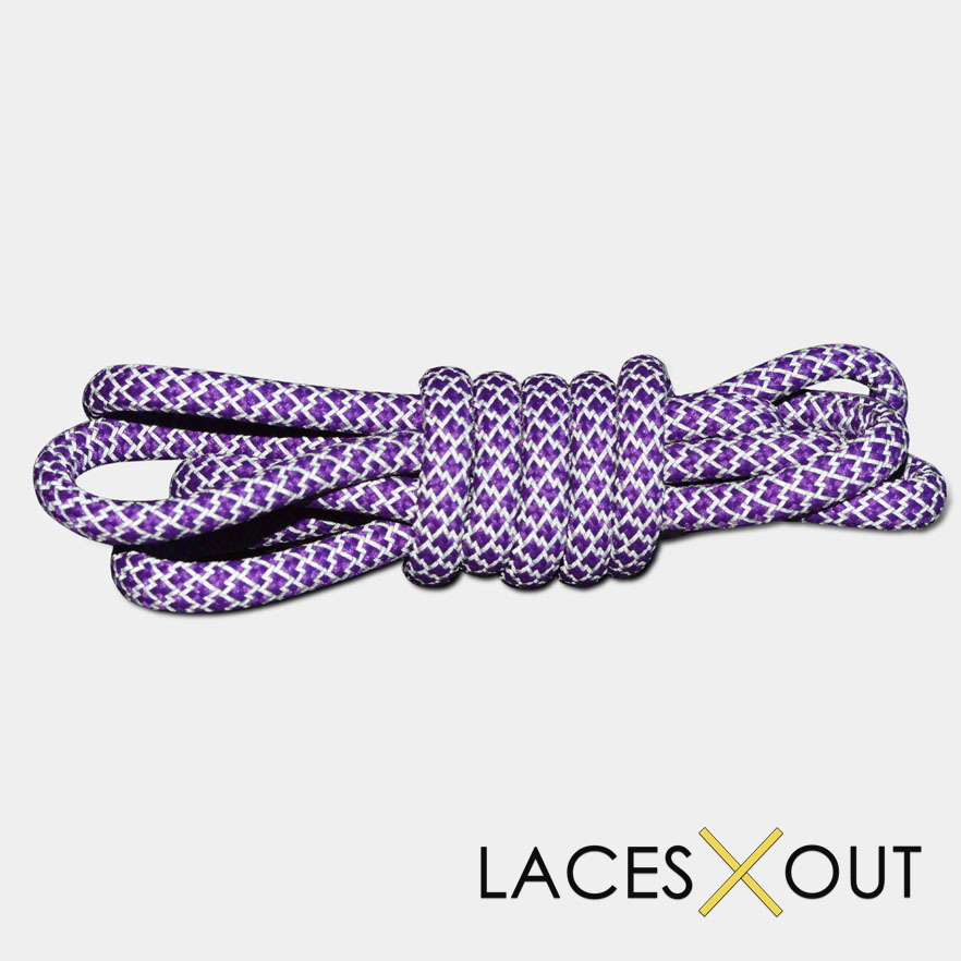 Reflective Purple 3m Rope Shoelaces