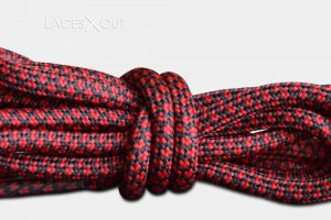 Red black rope laces