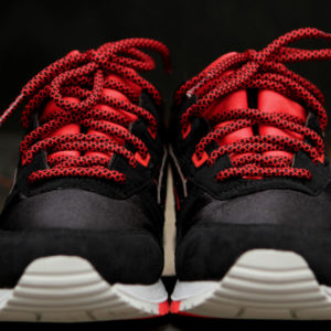 Red Black Rope Shoelaces Asics