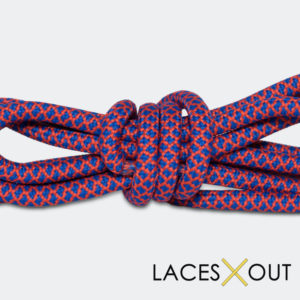 Red and Blue Rope Shoelaces Cheap