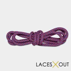 Red and Blue Rope Shoelaces Buy