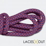 Red and Blue Rope Shoelaces Quality