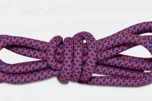 Red and Blue Rope Shoelaces