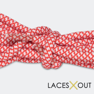Red Rope Shoelaces Close View