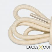 Tan Shoelaces Close View