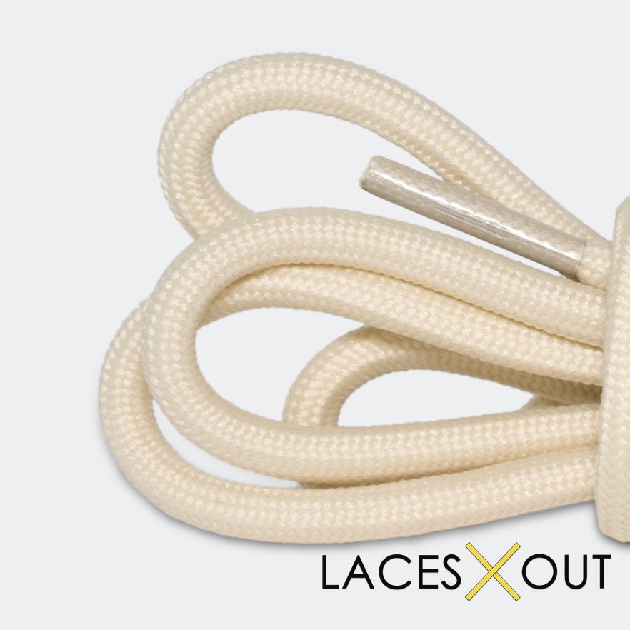 Tan / Nude Rope Laces - Tan Tipped Shoelaces - 50