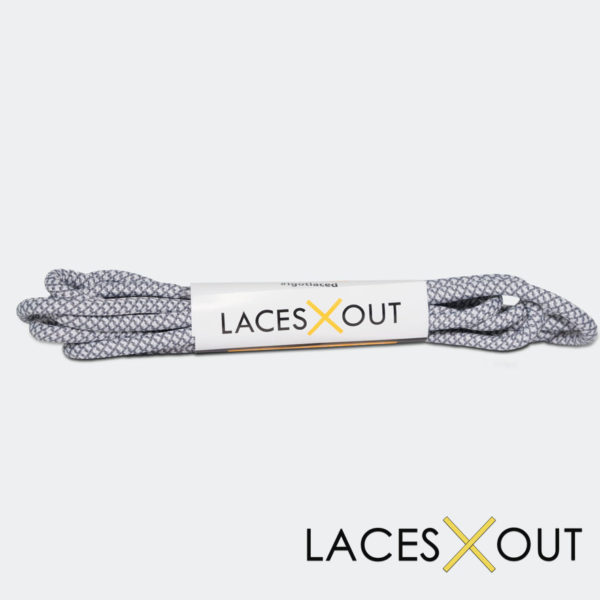White Grey Rope Shoelaces Shop