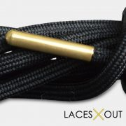 Gold Aglet Shoelaces