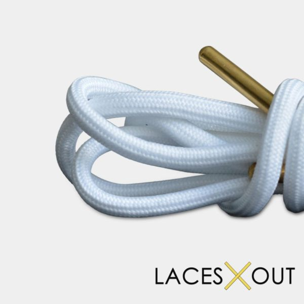 White Gold Shoelaces Rope