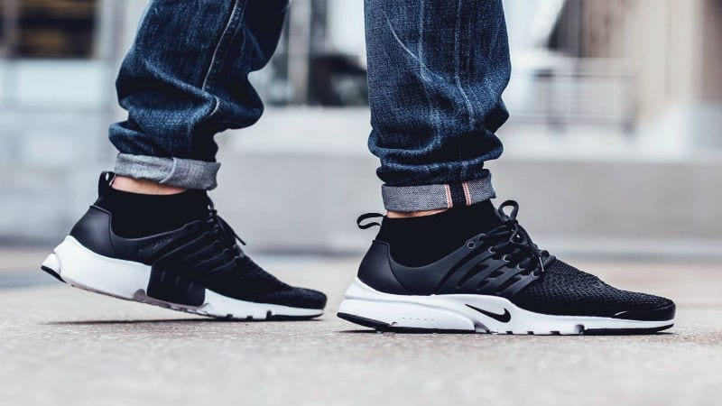 Nike Presto Shoes Black And White